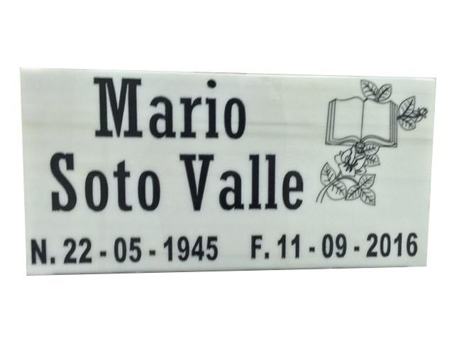 Placa en Mármol